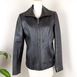 East 5th Women's Genuine Leather Black Jacket